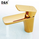 높은 Quality Noble 및 Luxury Gold Color Single Handle Basin Faucet