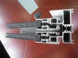 Guichet de glissement en aluminium avec le premier panneau fixe