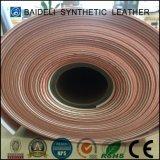 Cuero artificial para los zapatos, muebles, sofá, bolso del PVC del color de color salmón