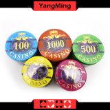 stellen Plastikchips des schürhaken-760PCS ein,/die Acrylkasino-Chips, die für Spieler Ym-Focp004 des Kasino-5 - 8 eingestellt werden
