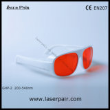 Witte Simple Frame 52 van 266nm, 355nm, 405nm, 532nm Ultraviolet Ce Meet En207 en van Green Laser Safety Glasses/Laser Protective Goggles (ghp-2 200540nm)