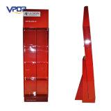 Cartón corrugado de color rojo 3 mostrador de suelo de mostrador venta al por mayor