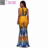 Stephanelle orange Ombre Mehrfarbendruck-Maxi Kleid L51412