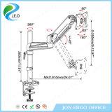 Support 2017 réglable de moniteur de canalisation verticale de moniteur de bride de bureau de Jeo Ys-Ga12u