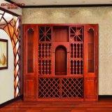 Шкаф вина античного белого Teak деревянный (GSP19-019)