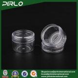 frasco plástico transparente cheio de 30g 30ml 1oz com os frascos do plástico do Glitter do prego do tampão