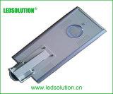 Réverbère solaire Integrated du détecteur DEL de corps avec le panneau solaire