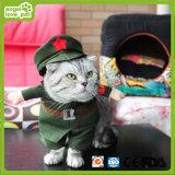 I vestiti dell'animale domestico dell'esercito di colore rosso