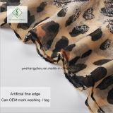 ボイルのスカーフのヒョウのScarf Factory点によって印刷される日焼け止めの方法女性