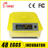 Incubateurs approuvés et Hatcher d'oeufs de poulet de la CE transparente