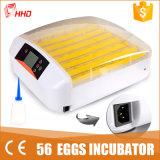Incubatrice automatica chiara dell'uovo del pollo del LED mini per 56 uova (YZ-56S)