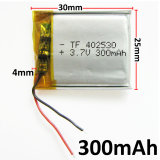 Bateria 3.7V 300mAh 402530 Bateria recarregável de iões de lítio Li-Po de polímero de lítio para MP3 MP4 MP5 GPS PSP Peça eletrônica móvel