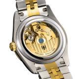 Удар упорное Reloj цифров роскошной золотистой нержавеющей стали вахты механически людей дела водоустойчивый