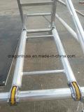 Aluminio tipos de la escalera del paso de progresión de 45 grados de andamio