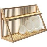 Cremagliera di piatto di bambù di legno amichevole del disco della natura solida per mobilia domestica