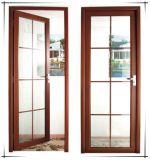 Porte en aluminium Supreme de tissu pour rideaux en verre Tempered de double de qualité de Woodwin