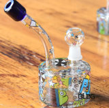 Труба водопровода стекла Perc оптового миниого мрамора Recyclers снаряжения ЛИМАНДЫ масла встроенная