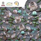 Tessuto sexy del merletto del ricamo, bello neri e modo, buona qualità per la cerimonia nuziale C10052 di Afraca