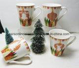 As canecas novas de China de osso da venda quente caneca Xms de 12 onças projetam canecas cerâmicas