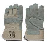 Pleins gants de travail de cuir fendu de peau de vache de sécurité du travail de paume