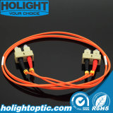 Câble de cavalier de fibre LC à l'orange 3.0mm duplex de LC 50mm