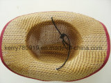 Venta al por mayor de encargo del sombrero de paja del sombrero de paja de la promoción (DH-LH7210)