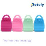 Omhoog maken de Schoonmakende Eieren van de Borstel van het silicone voor