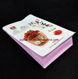 편평한 바닥은 주머니 알루미늄 호일 Zip 자물쇠 1회분의 커피 봉지 Kraft 종이 빨간 날짜를 위한 박판으로 만들어진 강직한 음식 비닐 봉투를 위로 서 있다