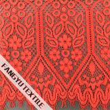Tela de nylon do laço do aparamento do algodão do projeto elegante