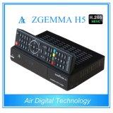 세계적인 유효한 Zgemma H5 Multistream 인공위성 또는 케이블 수신기 이중 코어 리눅스 OS MPEG4 H. 265 DVB-S2+T2/C 쌍둥이 조율사