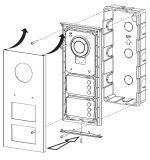 ビデオ通話装置のドアのパネルのマルチアパートエントリ端末