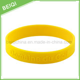 Fabricant Custom Fashion Embossed Silicon Wristband / Bracelet pour promotionnel