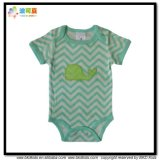 Stripe Printing Baby Garment Organic Cotton Infant Bodysuit