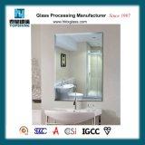Specchio dell'argento del bordo della smussatura di disegno moderno per i rifornimenti della stanza da bagno dell'hotel