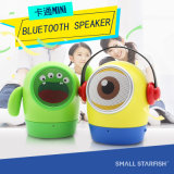 かわいい人形、小さい黄色人、Bluetoothの無線小型スピーカー