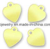 Jóias de prata personalizadas Etiquetas de nomes simples