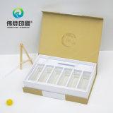 Papierdrucken-Kasten für kosmetische Haut-Sorgfalt-Produkte, heißes Goldstempeln und geprägt
