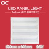 lâmpada de painel leve quadrada do diodo emissor de luz da luz de teto de 96W 600*600mm