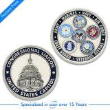 Il ricordo militare della polizia del premio del metallo degli S.U.A. di abitudine commemora la moneta