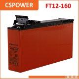 中国の供給12V160ahの前部アクセスターミナル電気通信及び太陽AGM細いUPS電池
