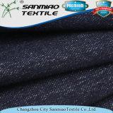 Il doppio dell'indaco di stile della saia ha barrato il tessuto del denim lavorato a maglia cotone per i jeans