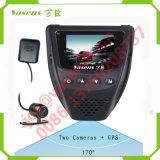 GPS 차 대시 사진기 Dashcam를 가진 이중 렌즈 차 DVR 비행 기록 장치 차 사진기 대시 캠