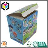 Uno mismo grande que bloquea el rectángulo acanalado inferior del cartón de la impresión de color