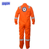 Tuta arancione, vestiti da lavoro di sicurezza, vestiario di protezione, Workwear della tuta