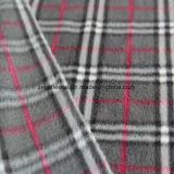 灰色の小切手デザインのブラシをかけられた北極の羊毛ファブリック
