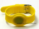 Silicone do Wristband Lf/Hf/UHF de RFID que segue o bracelete de medida ajustável para Childer/adulto