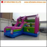 Castelo de salto do Bouncer inflável comercial combinado com corrediça do obstáculo (T3-405)