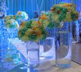Акриловая ваза для венчания, высокорослая кристаллический ваза