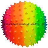 Bunte Belüftung-Regenbogen-Massage-Kugel-knörrige Kugel