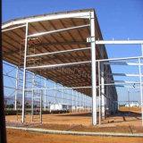 Armazém pré-fabricado claro do aço estrutural a Angola